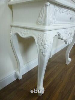 French Rococo Side Table Shabby Chic Style Side Table In White