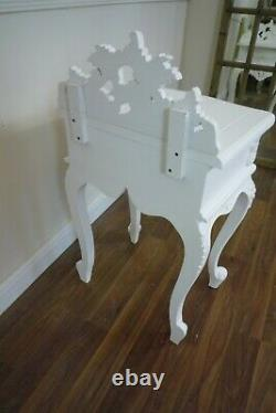 French Rococo Small Side Table In White Shabby Chic Style Side Table