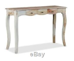 French Shabby Chic Console Table 3 Drawer Vintage Style Hall Hallway Furniture