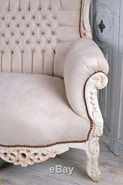 French Sofa Baroque Bench Royal Furniture Shabby Chic 80 gilt LOUIS solid wood