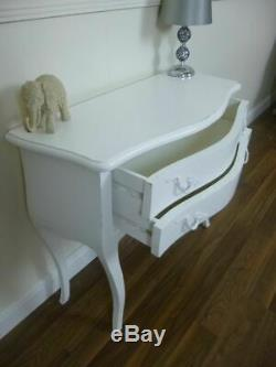 French Style Charroux Small Chest Of Drawers In White Shabby Chic Chest