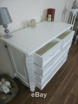 French Style Chest Of Drawers In White Handmade Shabby Chic Chest Of Drawers