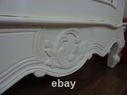 French Style Rococo Single Armoire Wardrobe In Cream Shabby Chic Style