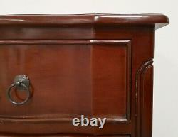 French Style Serpentine Chest Of Drawers Mahogany Shabby Chic Hand Made
