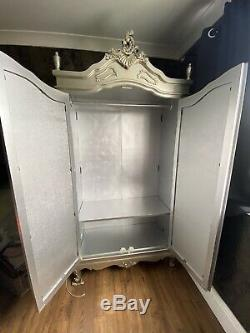French Style Shabby Chic Armoire Wardrobe