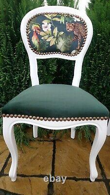French Style Shabby Chic Pair Of Chairs
