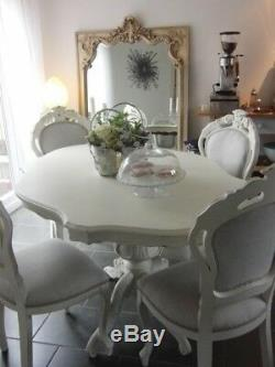 French Style Shabby Chic Pedestal Dining Table