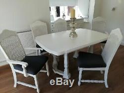 French Style Shabby Chic Table And 5 Chairs