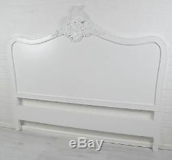 French Style White 5ft King Size Shabby Chic Headboard
