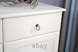 French Style shabby Chic Wooden cream Side board Living Room Furniture