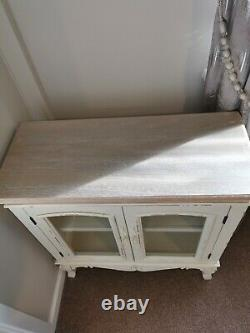 French shabby chic display cabinet