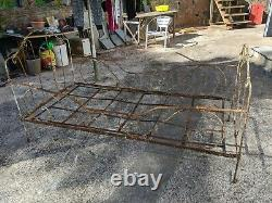 French wrought Iron Folding Day Bed Shabby Chic