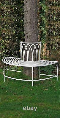 Gothic Bench 1/2 Tree bench French Shabby Chic Vintage Style aged Garden Seat