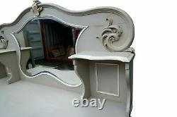 Hugely Impressive 2m Antique Victorian French Painted Dressing Table Shabby Chic