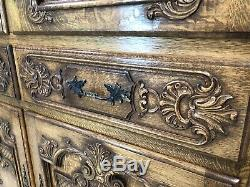 Incredible Vintage French Cocktail Cupboard / Oak Shabby Chic Style / Amazing