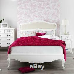 Juliette Shabby Chic 4ft6 double bed with upholstered headboard. French bed