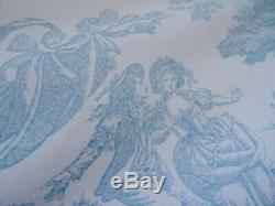 LAURA ASHLEY CURTAINS shabby COTTAGE chic FRENCH TOILE DE JOUY CHERUBS RARE