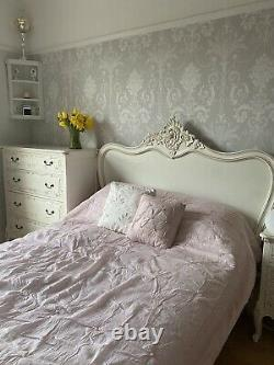 La Rochelle Antique White French Style Bed Double Escape To Chateau Shabby Chic