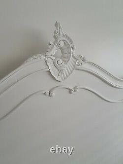 La Rochelle Antique White French Style Bed Double Shabby Chic 1930x1350mm