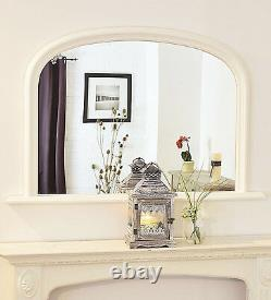 Large French White Arched Top Mirror Stunning Save ££s Insured in Transit