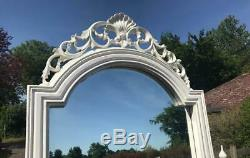 Large Ornate French Louis Shabby Chic Off White/cream Cheval Mirror Ball & Hand