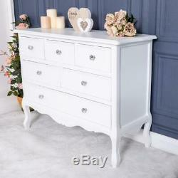 Large White Chest Of Drawers Storage Ornate Bedroom Furniture French Chic Home