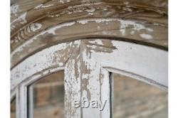 Large Wood Rustic French 2door Shutter Style Wall Mirror Shabby Chic rustic