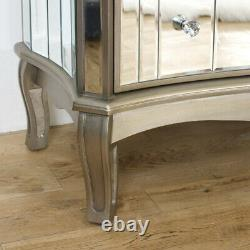 Large mirror 7 drawer chest vintage French shabby chic dresser bedroom furniture