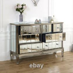 Large mirrored chest of drawers vintage French shabby chic bedroom furniture