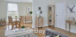 Limed Oak Shabby Chic French Country Sideboard Cabinet With Drawers & Cupboard