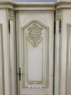Louis XV Style shabby chic French Carved 5 door Armoire Wardrobe