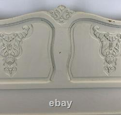 Louis XV Style shabby chic Vintage French Oak Double Bed