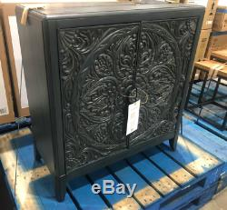 Modern Storage Cabinet Shabby Chic Cupboard 2 Door French Carved Console Table