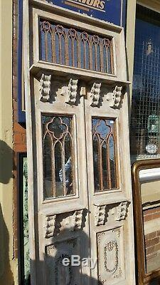 NEW French 2m Tall Shabby Chic DOOR Window Panel Distressed Rustic Wall Mirror
