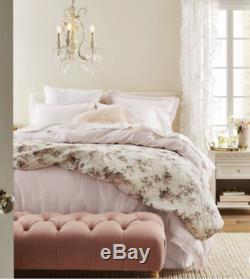 NEW Simply Shabby Chic White & Pink BLOOMING BLOSSOMS King Quilt French Cottage