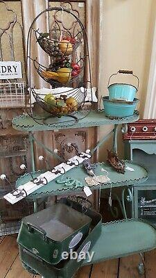 New PLANTER Vintage Shabby Chic French Metal 3 TIER Shelves Rack Display Stand