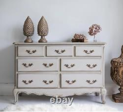 Normandy 7-Drawer Shabby Chic Chest of Drawers The French Bedroom Company