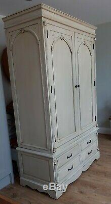 Ornate Double Wardrobe with Drawers Cream French Victorian Shabby Chic Gothic