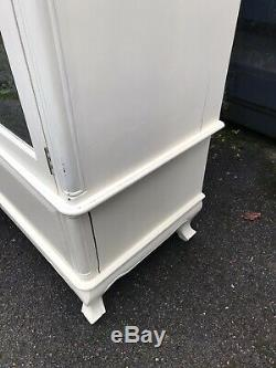 Pair Of French Style Shabby Chic Wardrobes Armoire