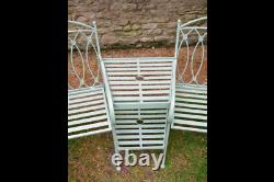 Pistaccio Loveseat French Shabby Chic Vintage Style aged Garden Bench Seat