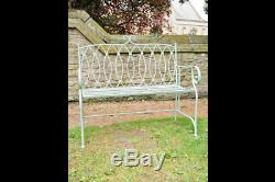 Pistaccio bench French Shabby Chic Vintage Style aged Garden Bench Seat