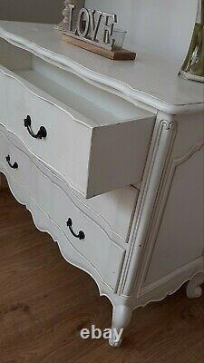 Provencal Chest of Drawers French Rococo Shabby Chic White Mahogany rrp £600.00