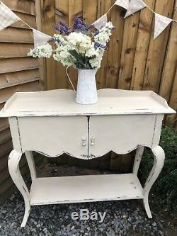 Quality Vintage Shabby Chic French Style Cupboard / Sideboard In Annie Sloan