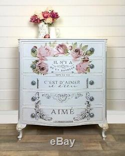REDUCED French Louis Style Chest Of Drawers, Pale Blue/Grey, Bedroom Furniture