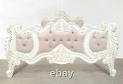 Rococo Double Renaissance Bed French White Hand Made Brand New Shabby Chic