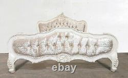 Rococo Kingsize Parisian Bed French White Hand Made Brand New Shabby Chic