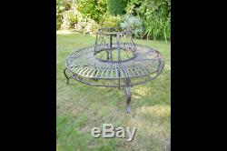Rustic Tree bench French Shabby Chic Vintage Style aged Garden Bench Seat