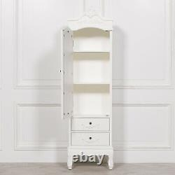SECONDS French Cream Chateau Single Armoire Mirror Door Shabby Chic Wardrobe