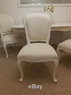 SHABBY CHIC. French style. Dinner table and 4 chairs. Used