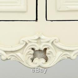 Shabby Chic Antique White Cream French Country Tv Television Stand Cabinet